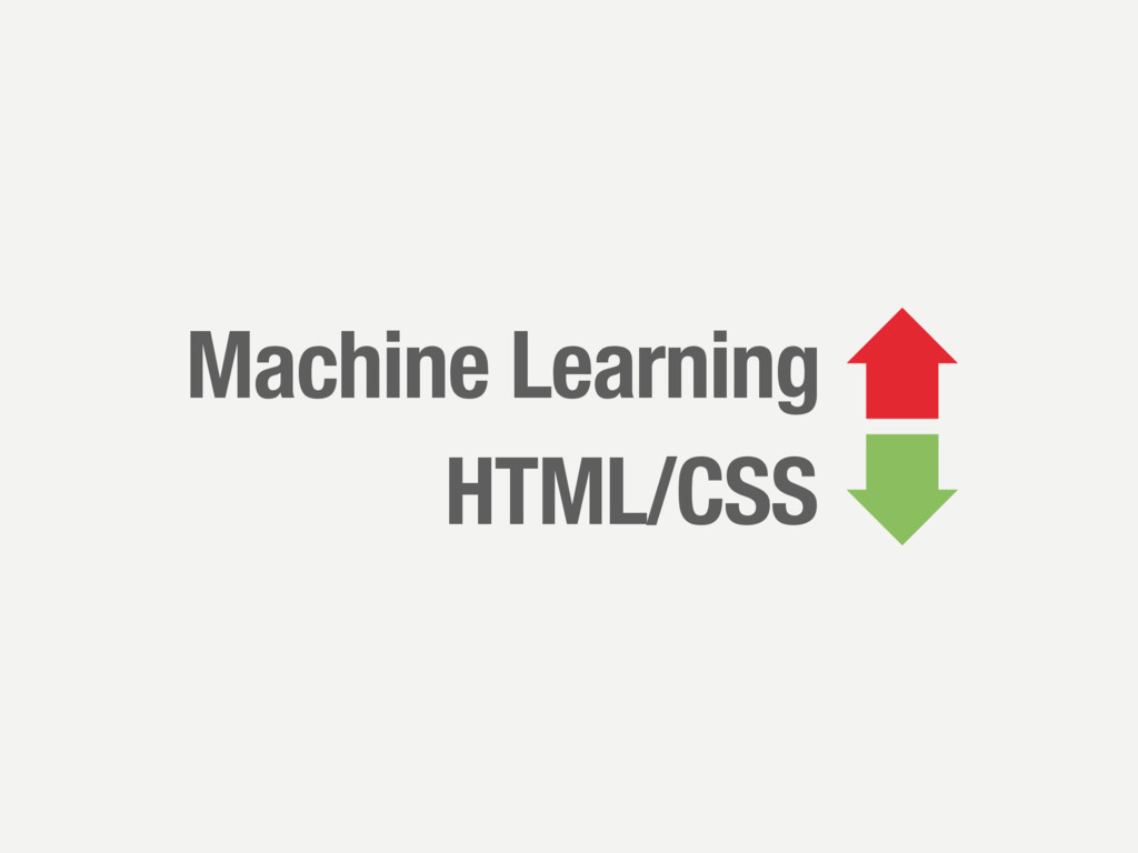 Machine Learning HTML/CSS