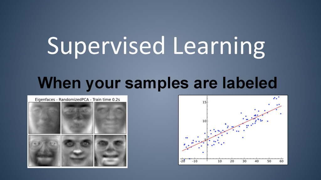 Supervised Learning  When your samples ar...