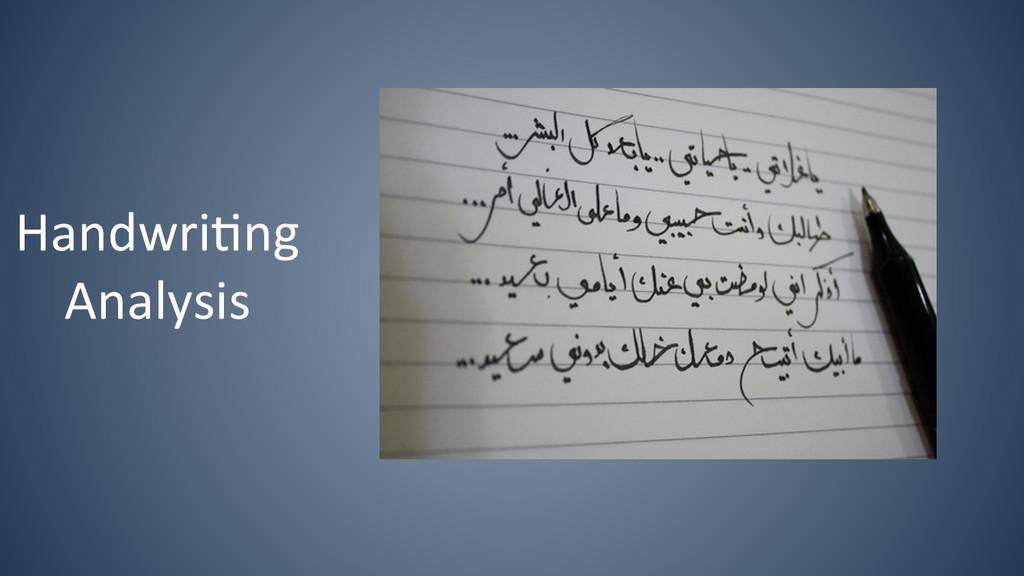 Handwri6ng   Analysis