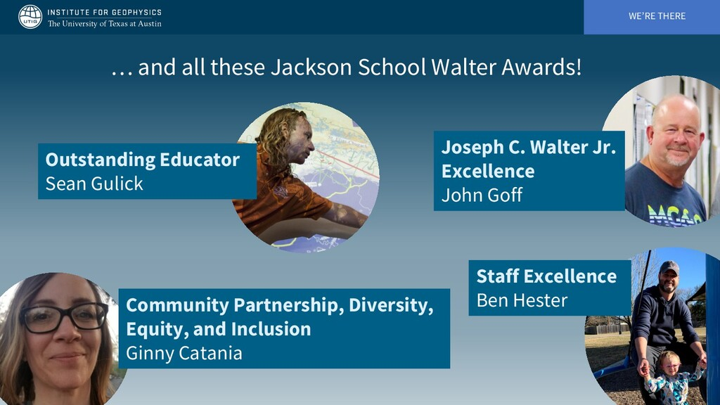WE'RE THERE … and all these Jackson School Walt...