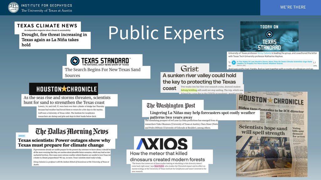 WE'RE THERE Public Experts