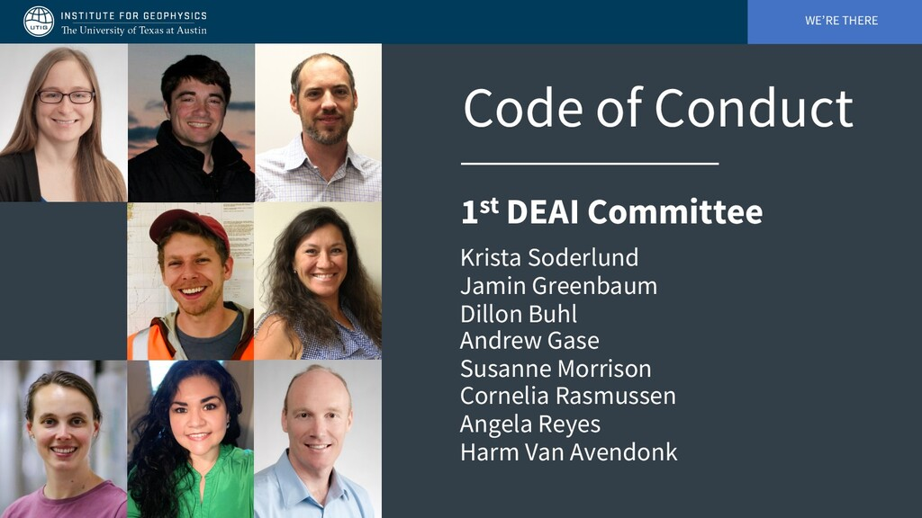 WE'RE THERE Code of Conduct 1st DEAI Committee ...