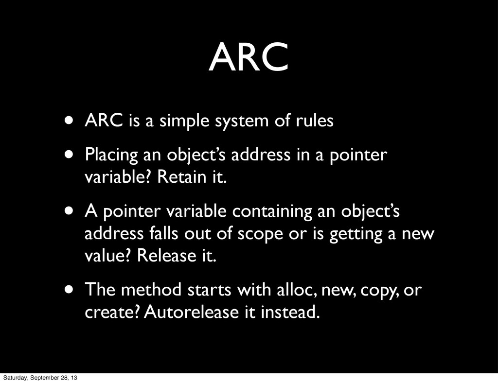 ARC • ARC is a simple system of rules • Placing...
