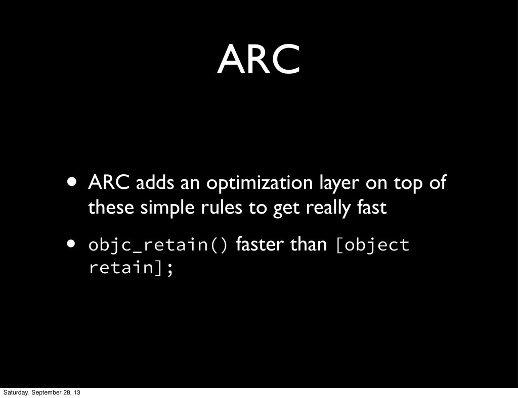ARC • ARC adds an optimization layer on top of ...