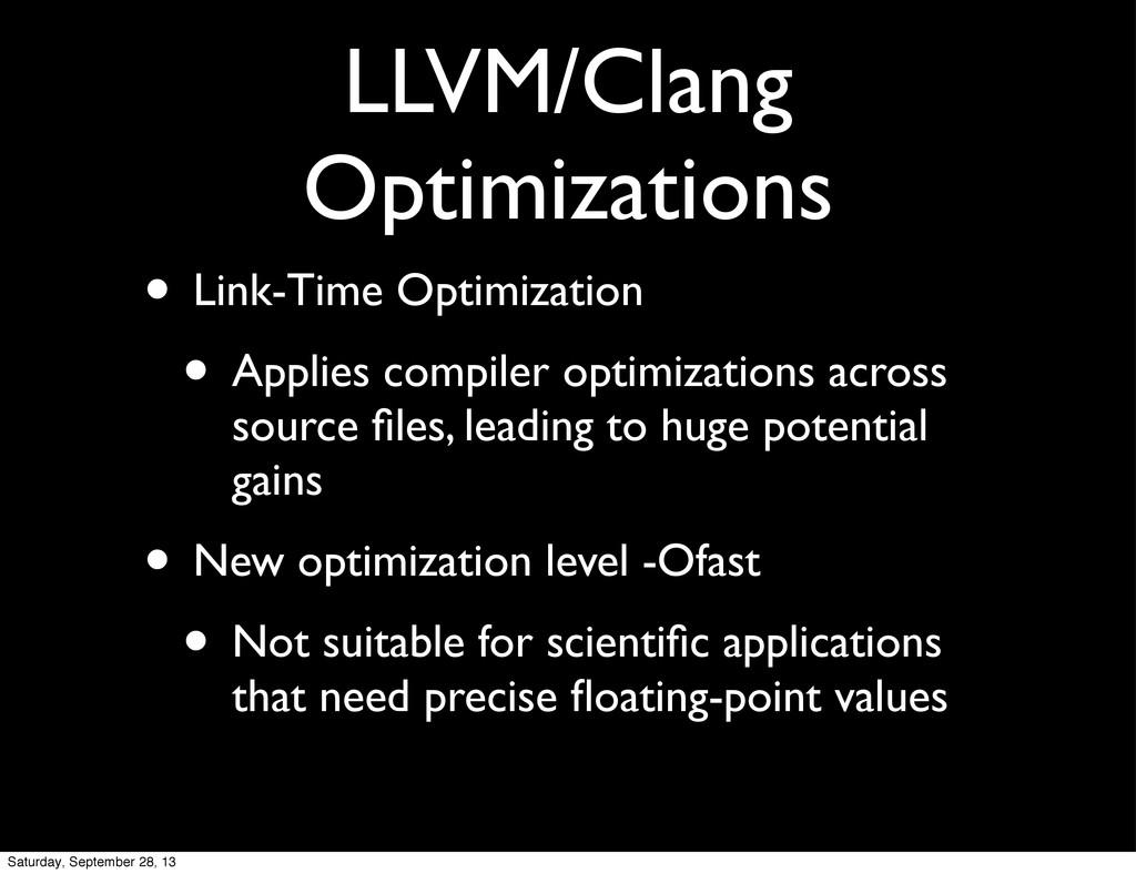 LLVM/Clang Optimizations • Link-Time Optimizati...