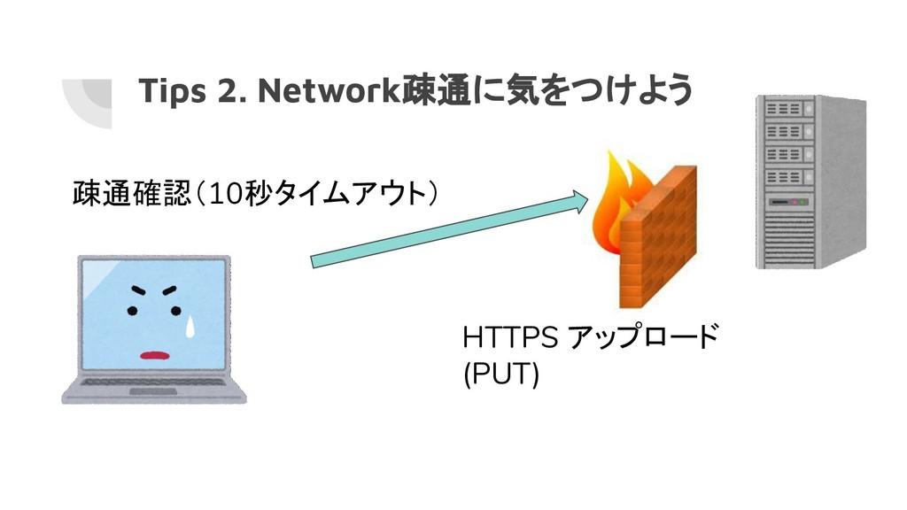 Tips 2. Network疎通に気をつけよう HTTPS アップロード (PUT) 疎通確...
