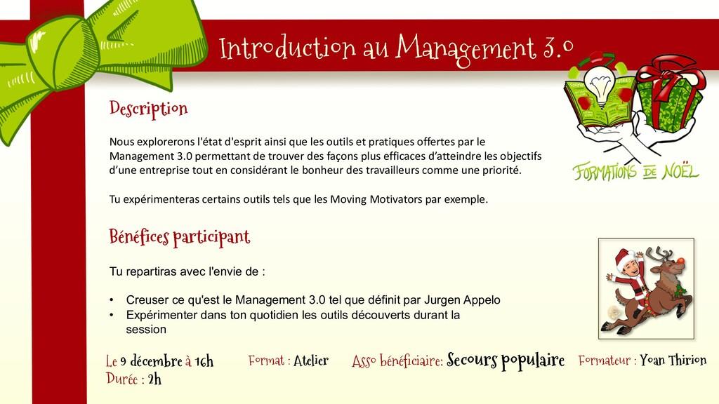 Introduction au Management 3.0 Description Nous...
