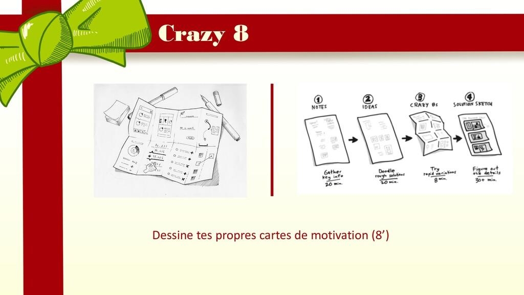 Dessine tes propres cartes de motivation (8') C...