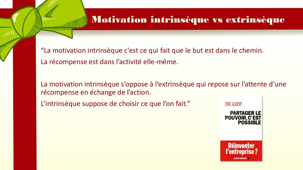 "Motivation intrinsèque vs extrinsèque ""La motiv..."