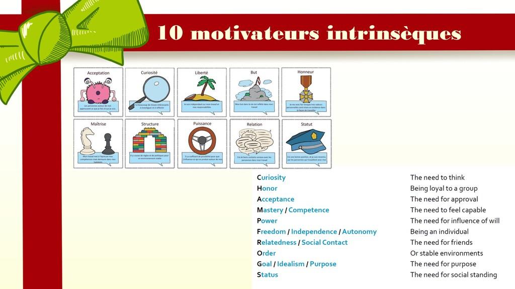 10 motivateurs intrinsèques