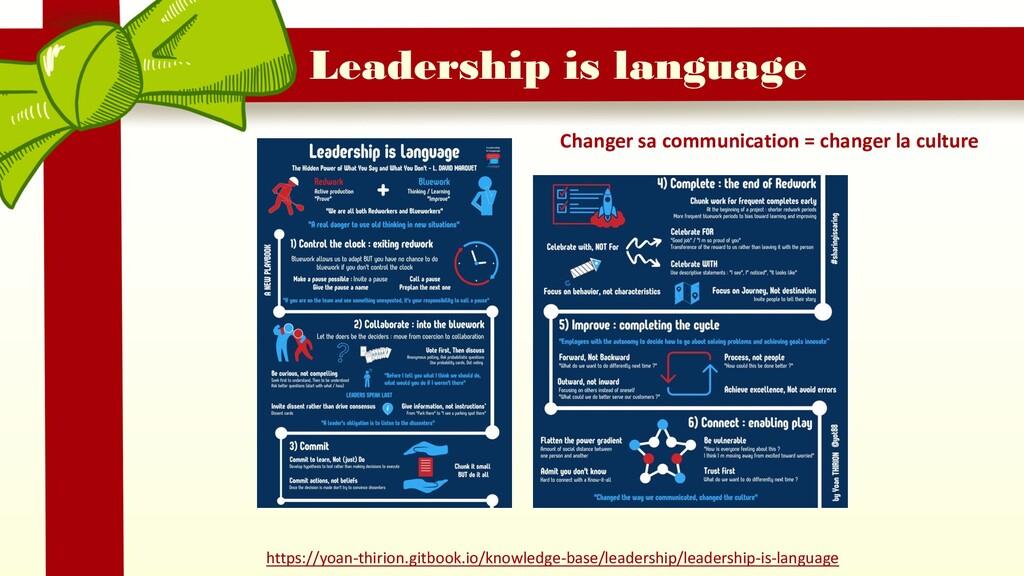 Leadership is language Changer sa communication...