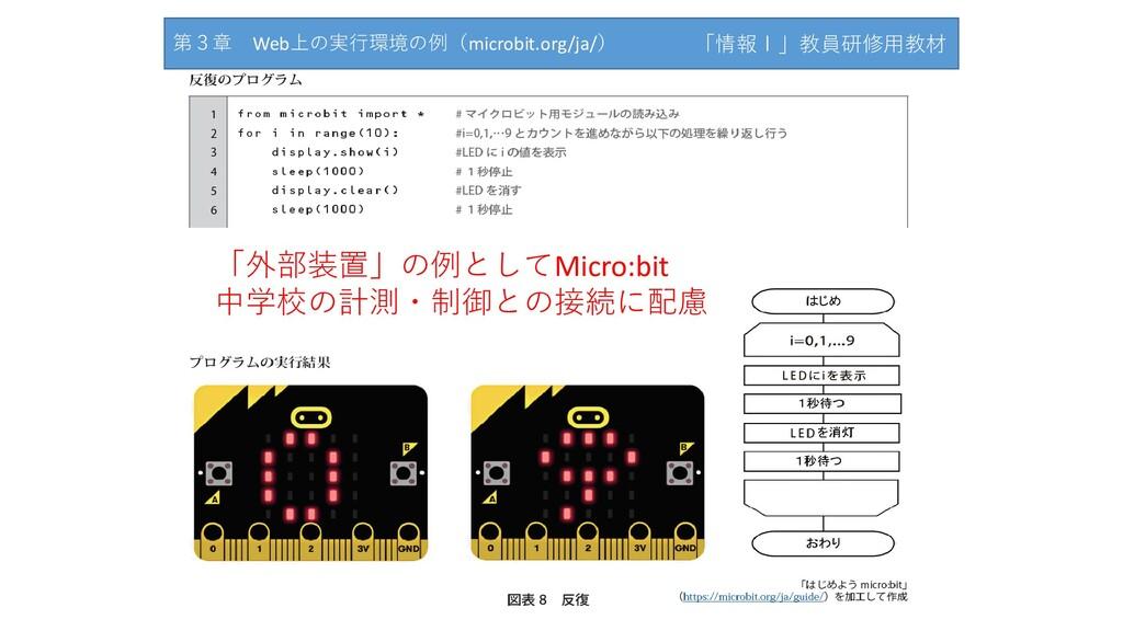 「情報Ⅰ」教員研修用教材サンプル 「外部装置」の例としてMicro:bit 中学校の計測・制御...