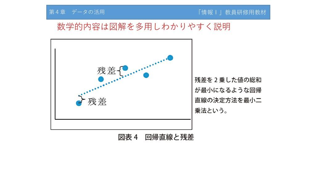 「情報Ⅰ」教員研修用教材サンプル 数学的内容は図解を多用しわかりやすく説明 第4章 データの活...