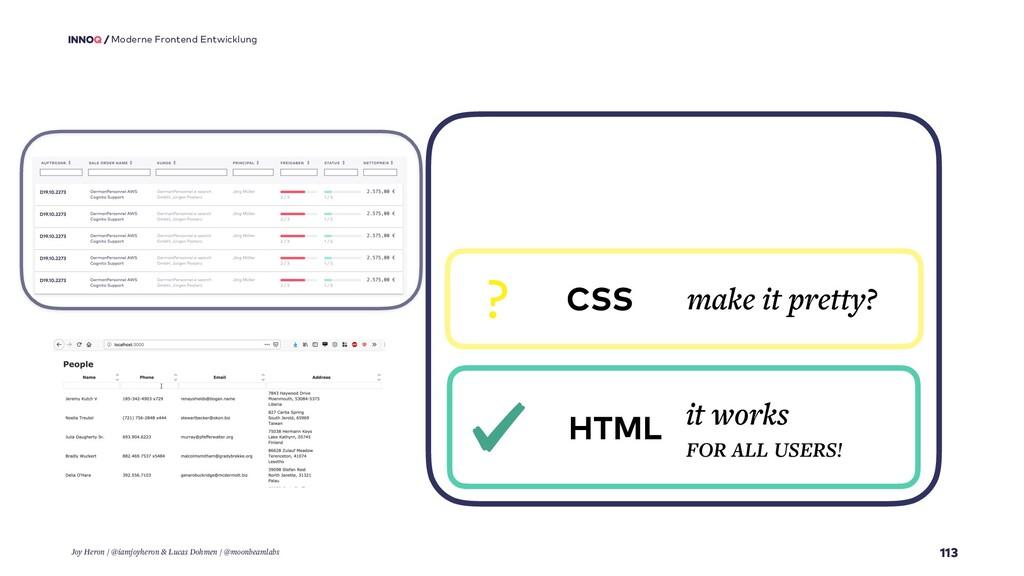 113 Moderne Frontend Entwicklung HTML it works ...