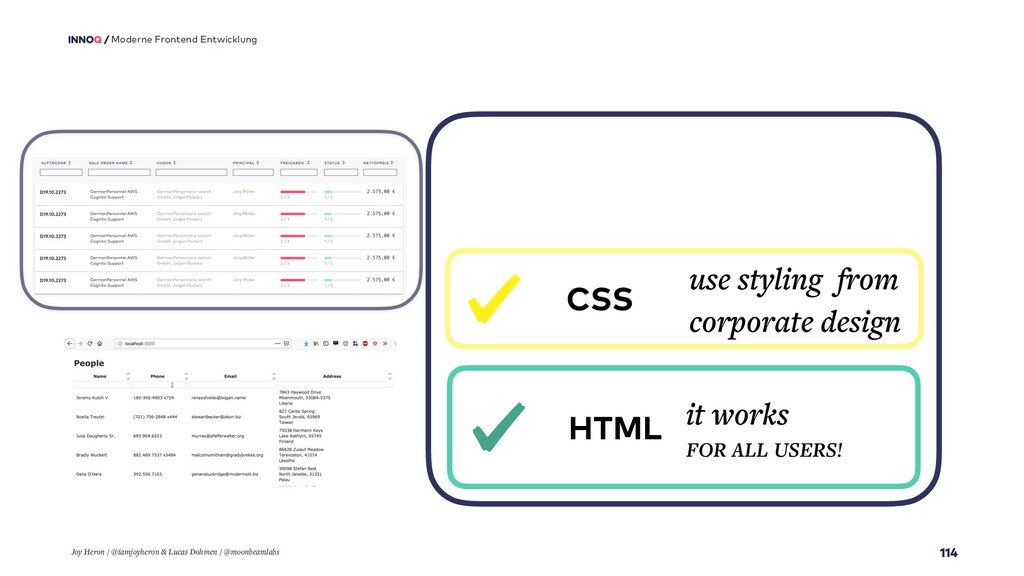 114 Moderne Frontend Entwicklung HTML it works ...