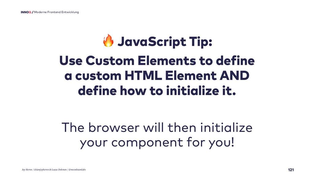 121 Moderne Frontend Entwicklung  JavaScript Ti...
