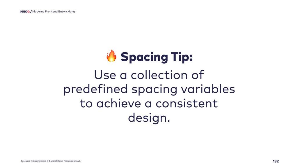 132 Moderne Frontend Entwicklung  Spacing Tip: ...