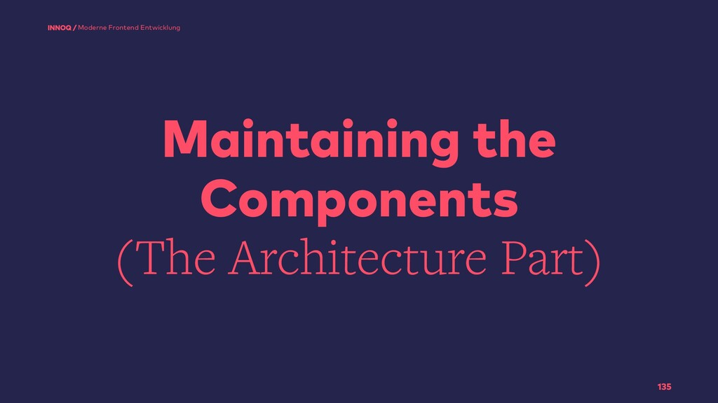 Maintaining the Components (The Architecture Pa...