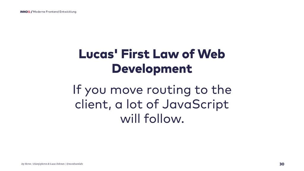 30 Moderne Frontend Entwicklung Lucas' First La...