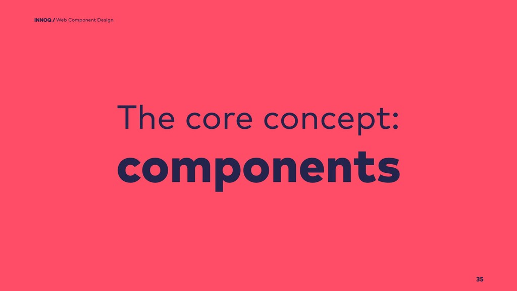 Web Component Design 35 The core concept: compo...