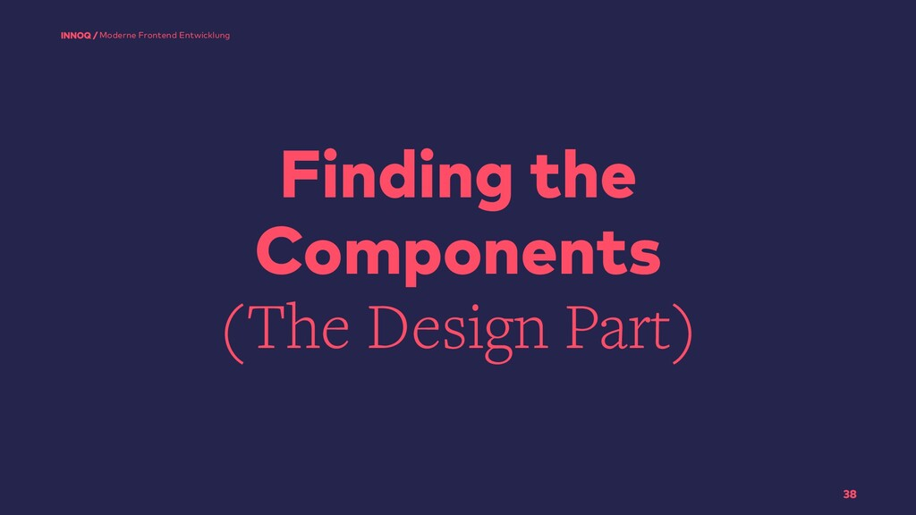 Finding the Components (The Design Part) 38 Mod...