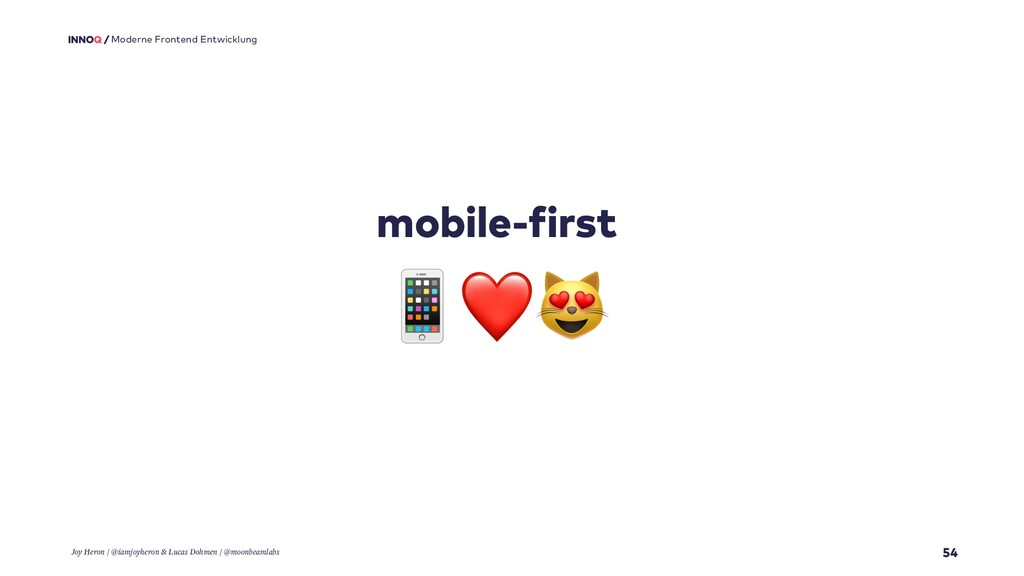54 Moderne Frontend Entwicklung mobile-first ❤ ...