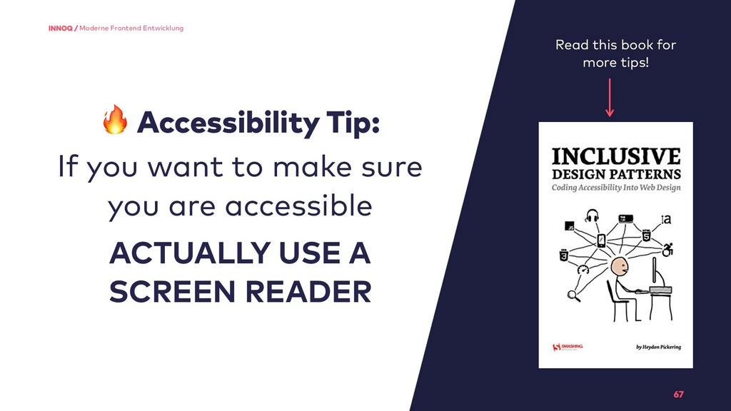 67 Moderne Frontend Entwicklung  Accessibility ...