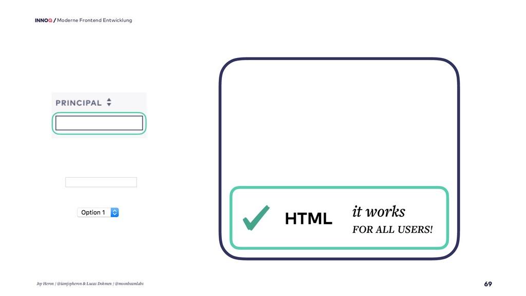 69 Moderne Frontend Entwicklung HTML it works F...