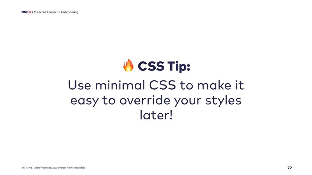72 Moderne Frontend Entwicklung  CSS Tip: Use m...