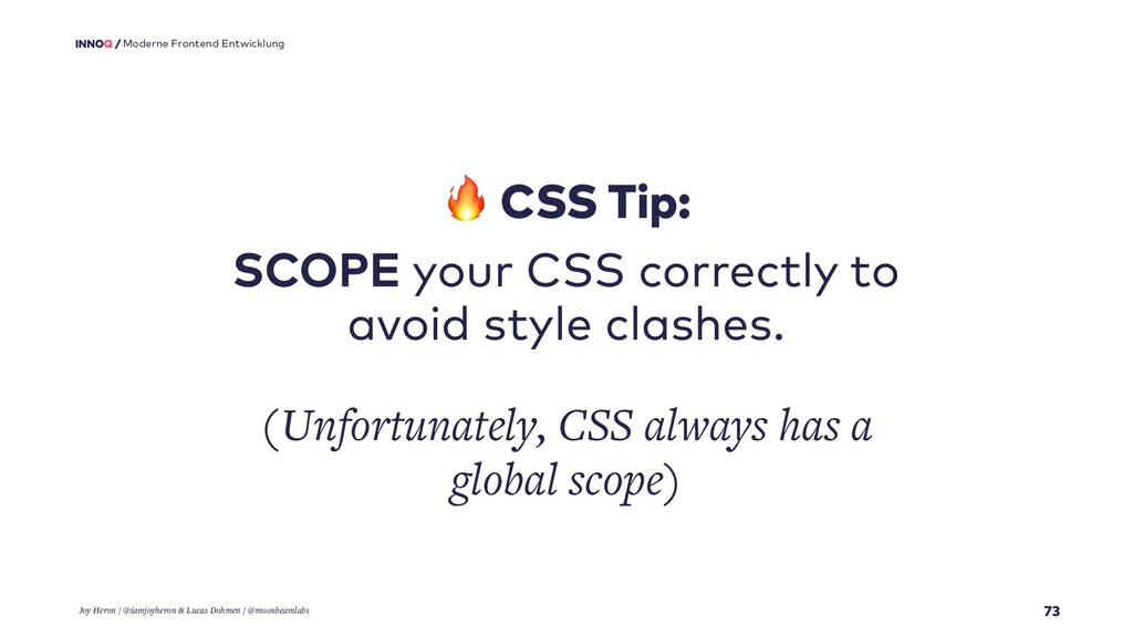 73 Moderne Frontend Entwicklung  CSS Tip: SCOPE...