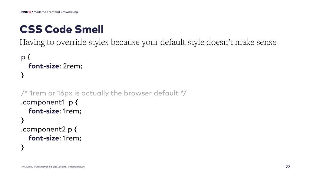 77 Moderne Frontend Entwicklung CSS Code Smell ...