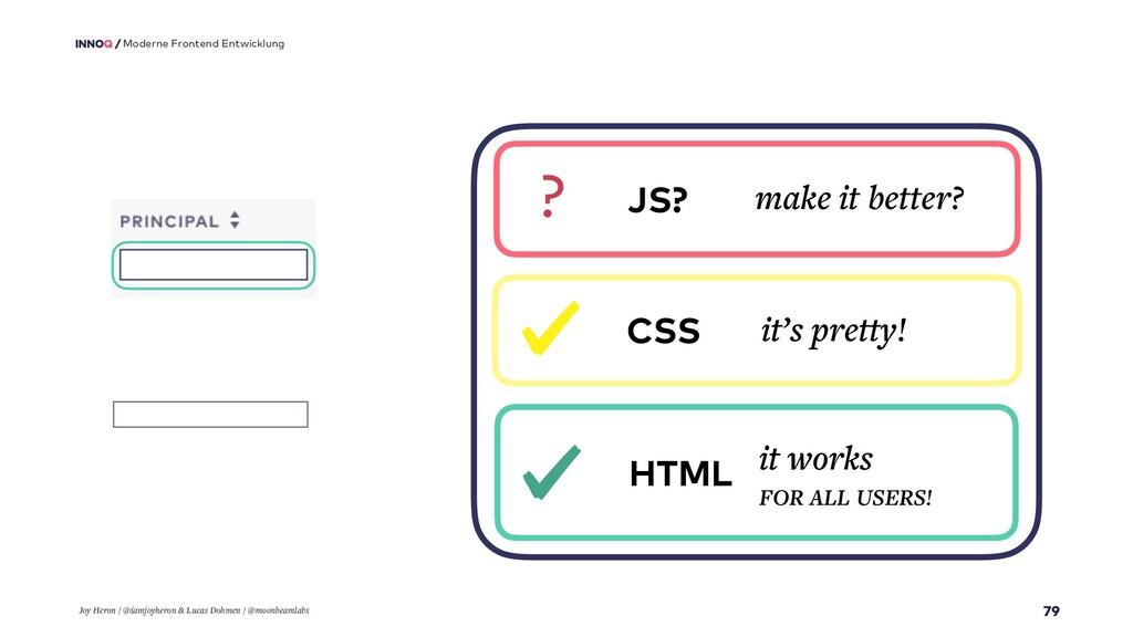 79 Moderne Frontend Entwicklung HTML it works F...