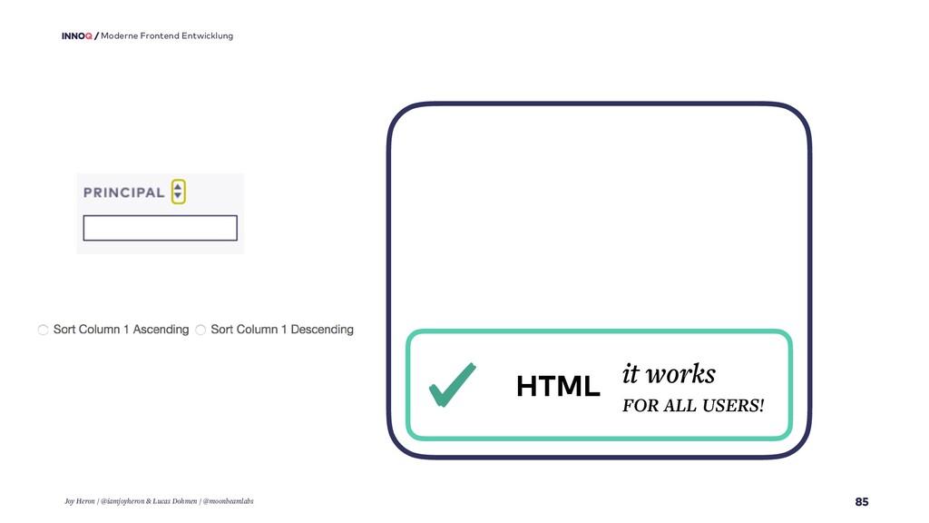 85 Moderne Frontend Entwicklung HTML it works F...
