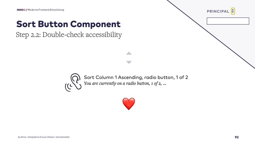 92 Moderne Frontend Entwicklung Sort Button Com...