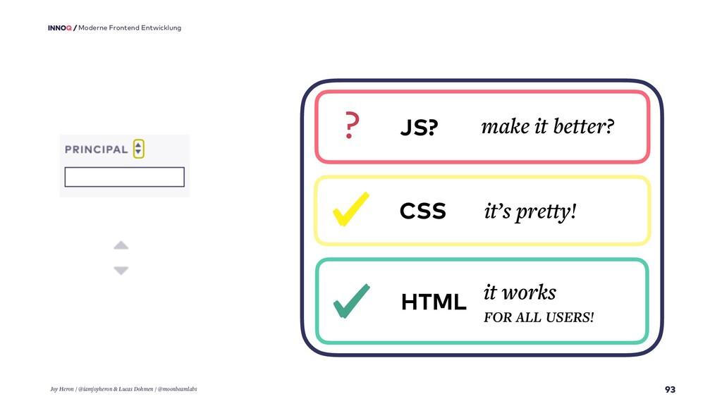 93 Moderne Frontend Entwicklung HTML it works F...