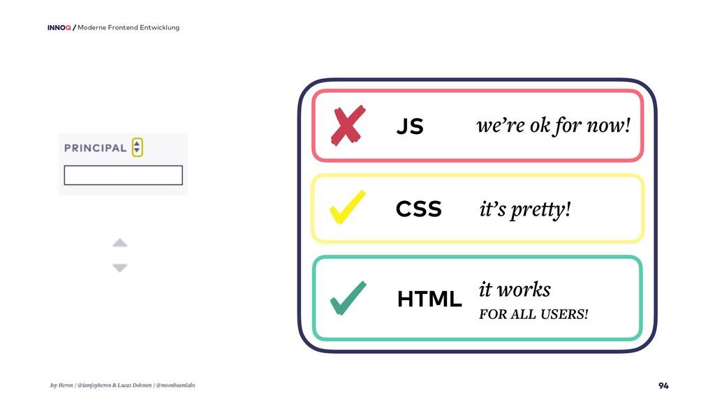 94 Moderne Frontend Entwicklung HTML it works F...