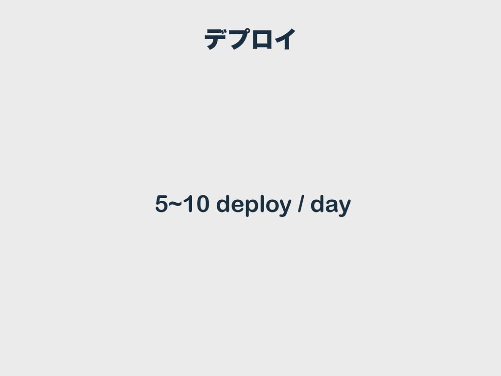 σϓϩΠ 5~10 deploy / day