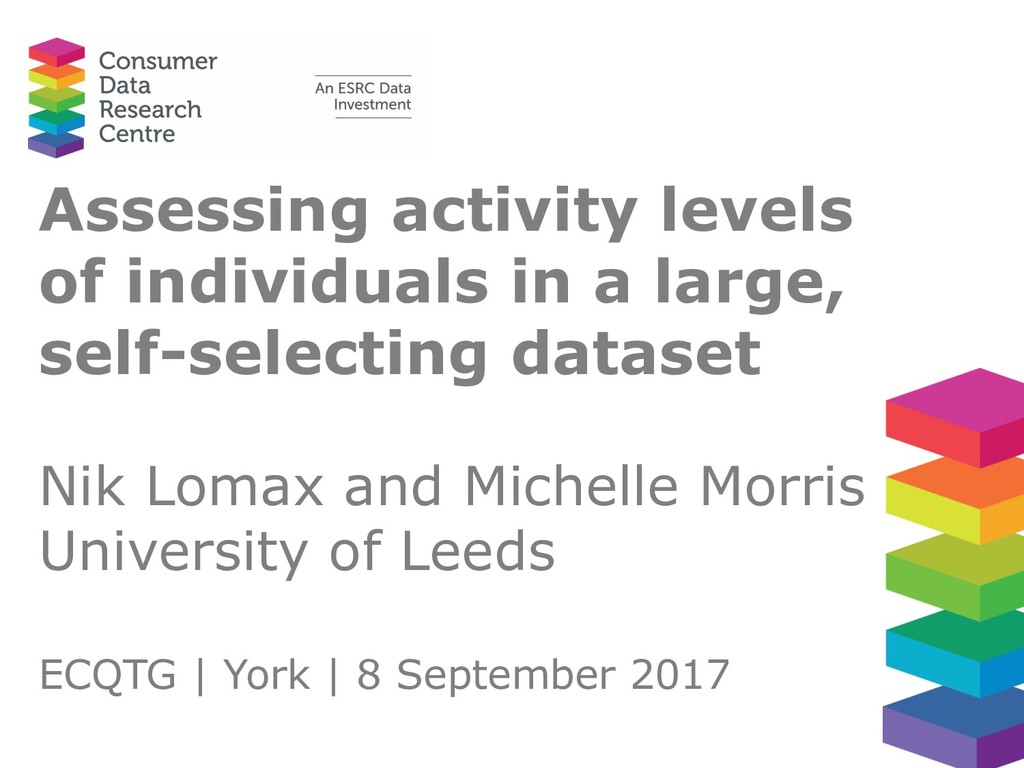 Assessing activity levels of individuals in a l...