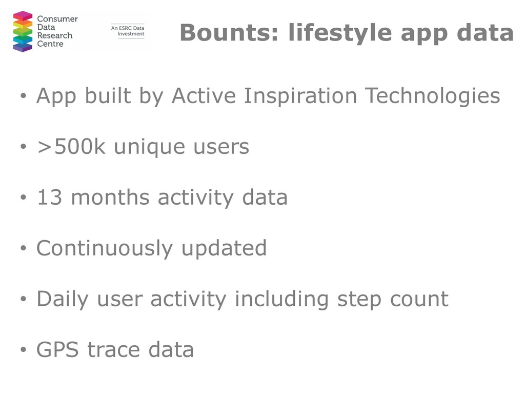 Bounts: lifestyle app data • App built by Activ...