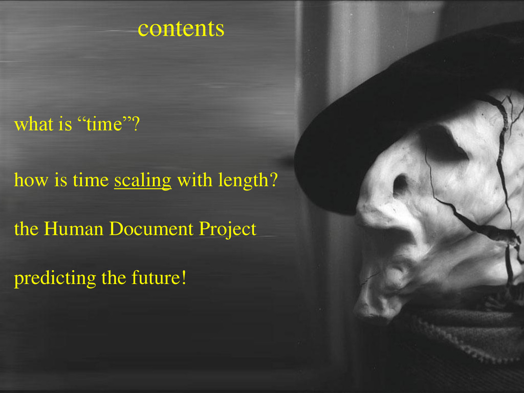 "contents what is ""time""? how is time scaling wi..."
