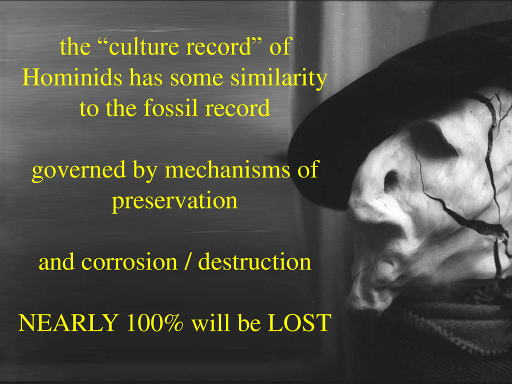 "the ""culture record"" of Hominids has some simil..."