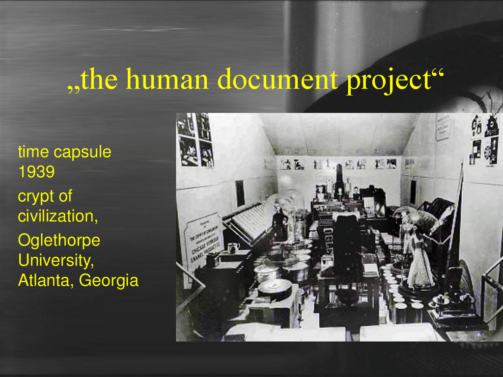 """the human document project"" time capsule 1939 ..."