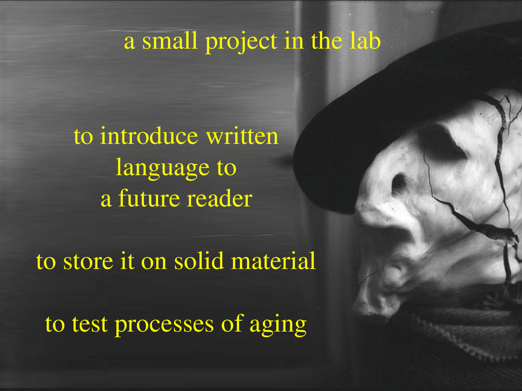 a small project in the lab to introduce written...
