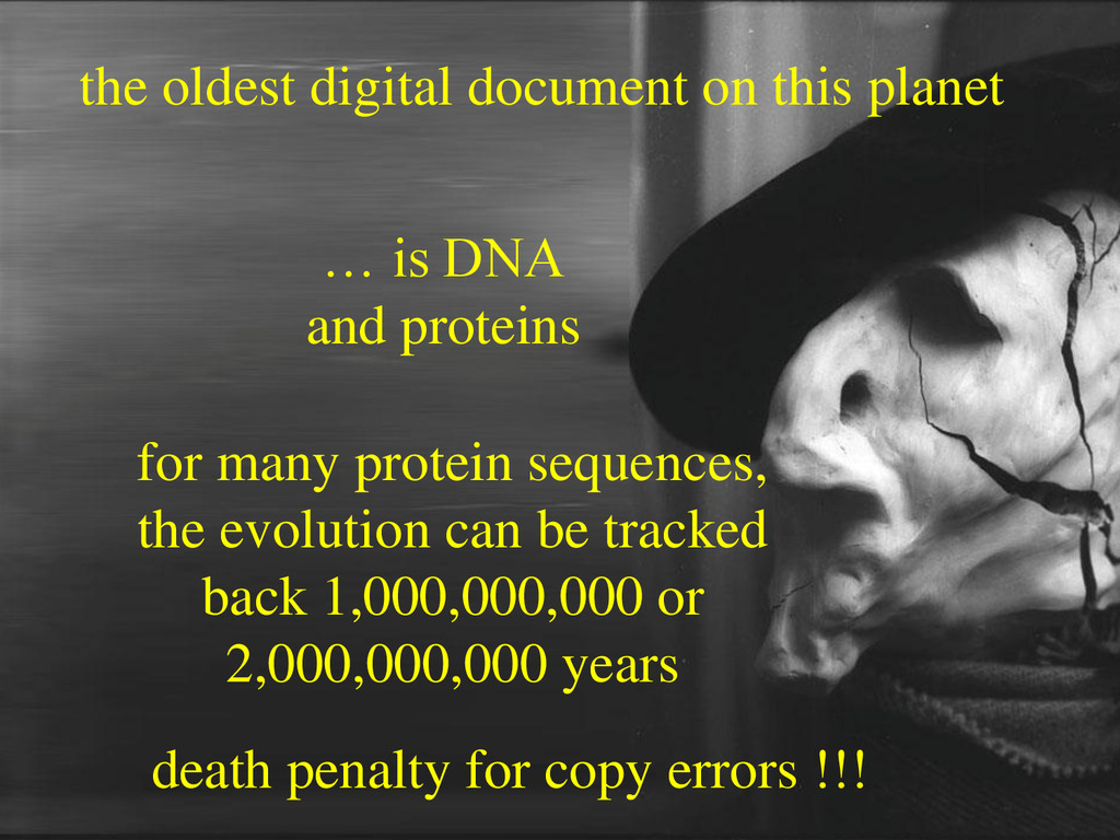 the oldest digital document on this planet … is...