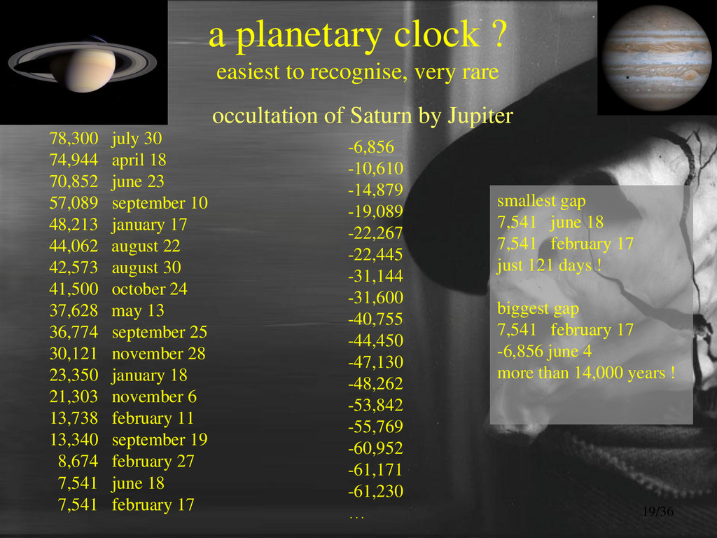 a planetary clock ? easiest to recognise, very ...