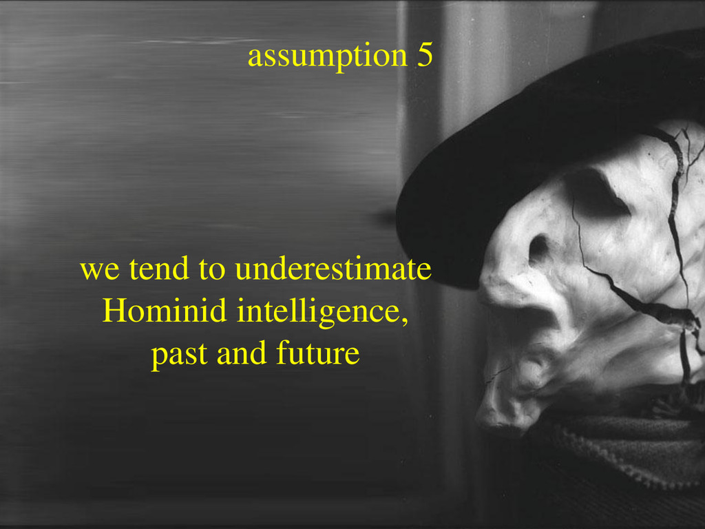 assumption 5 we tend to underestimate Hominid i...