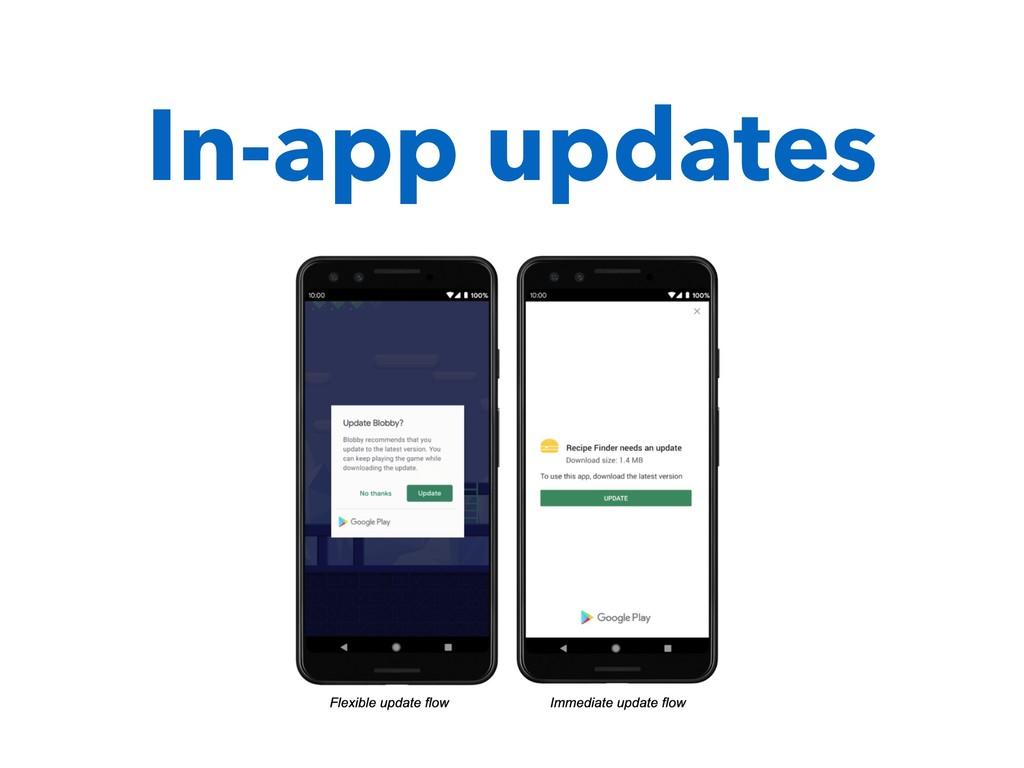 In-app updates