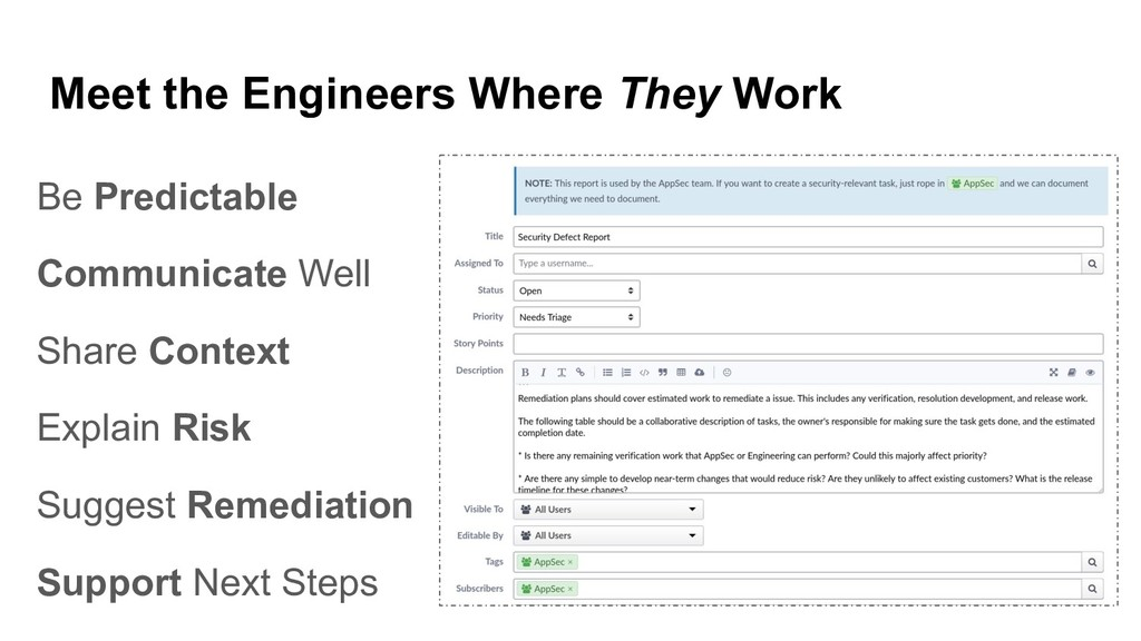 Meet the Engineers Where They Work Be Predictab...