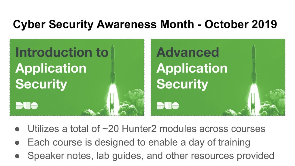 Cyber Security Awareness Month - October 2019 ●...
