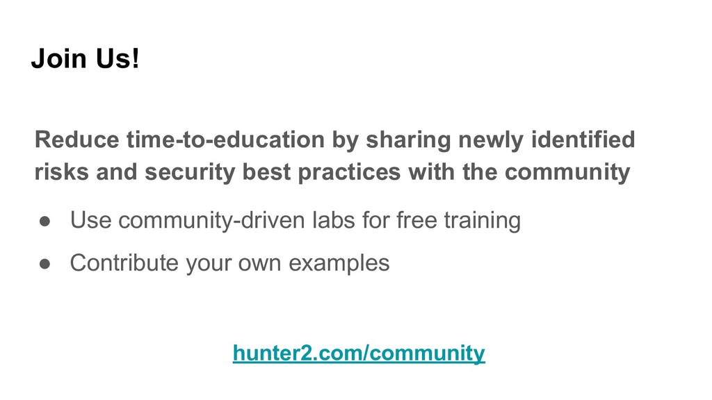Join Us! Reduce time-to-education by sharing ne...